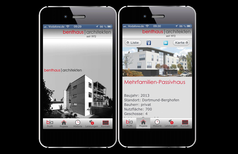 benthaus architekten als app frox die it fabrik. Black Bedroom Furniture Sets. Home Design Ideas