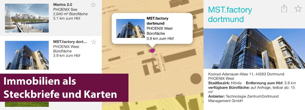 Immobilien App Lage in der Karte