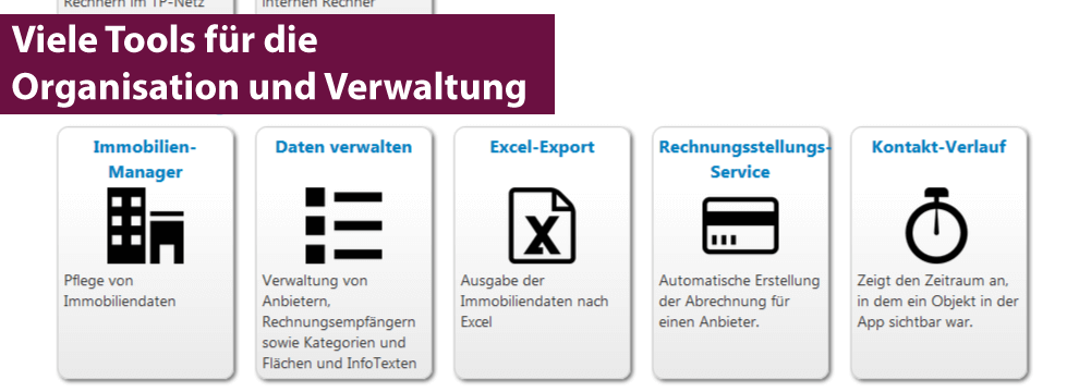 Tools des Immobilien Manager