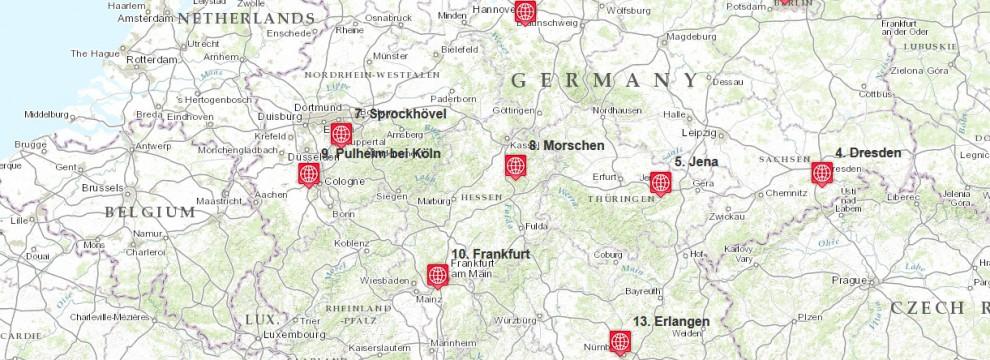 Leica Tour 2015 Standorte