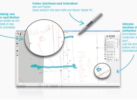 Redlining digitale Notizen wie auf Papier