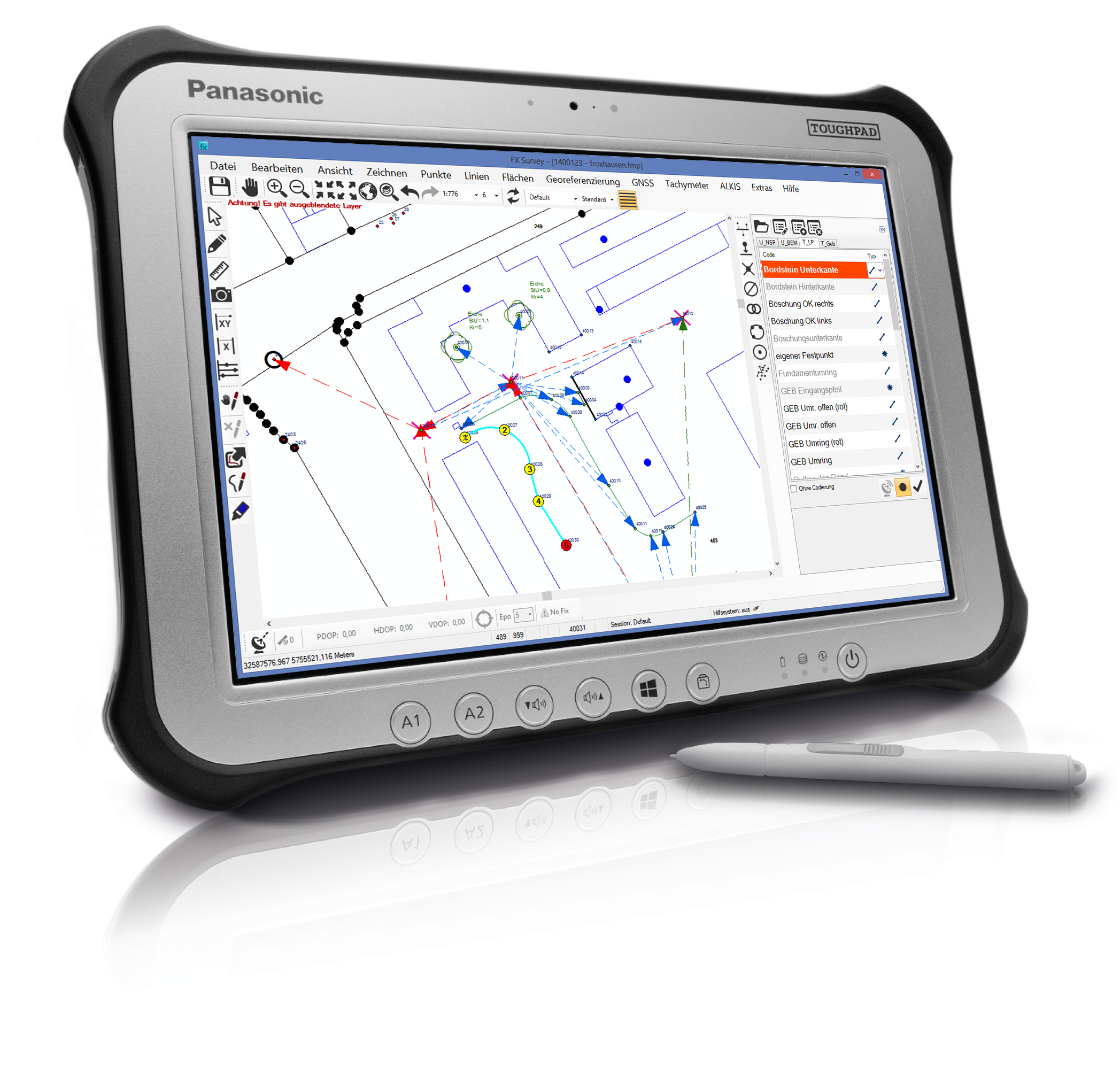 Panasonic Toughpad FZ-G1 mit FX Survey